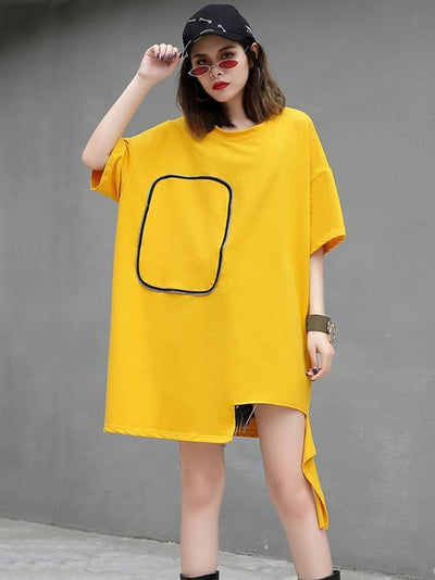 Plus Size Loose Solid Cool T-shirt Top