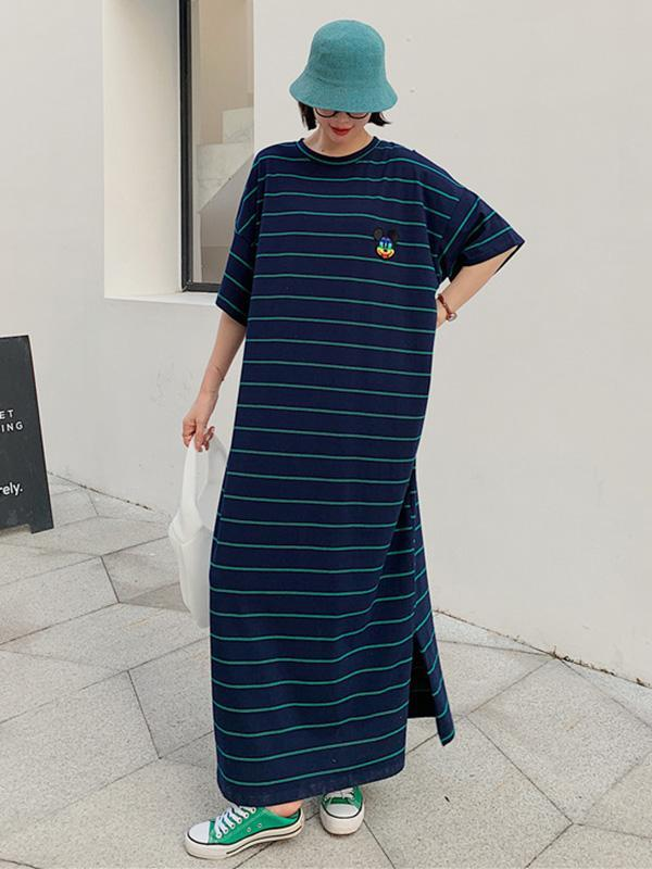 Original Striped Split-Side Dress