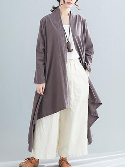 Loose Cropped Hemline Cover-up