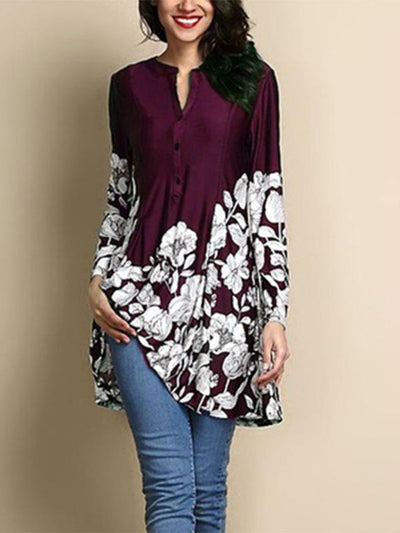 New Printed Long-Sleeve Shirt
