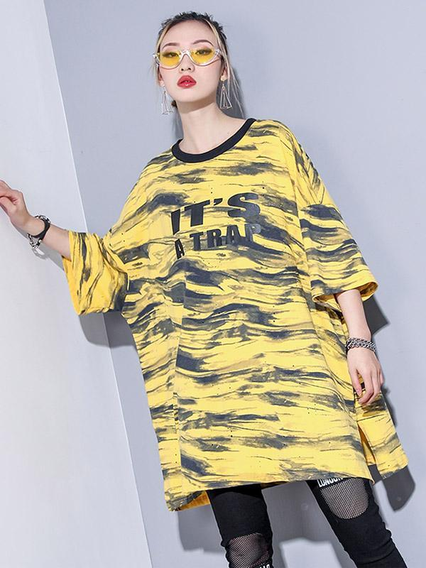 Plus Size Camouflage Long T-shirt