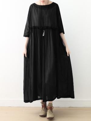 Loose Soft Comfortable A-Line Long Light Dress