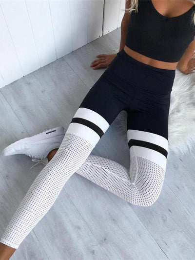 Fashion Split-joint Hollow Yoga Leggings