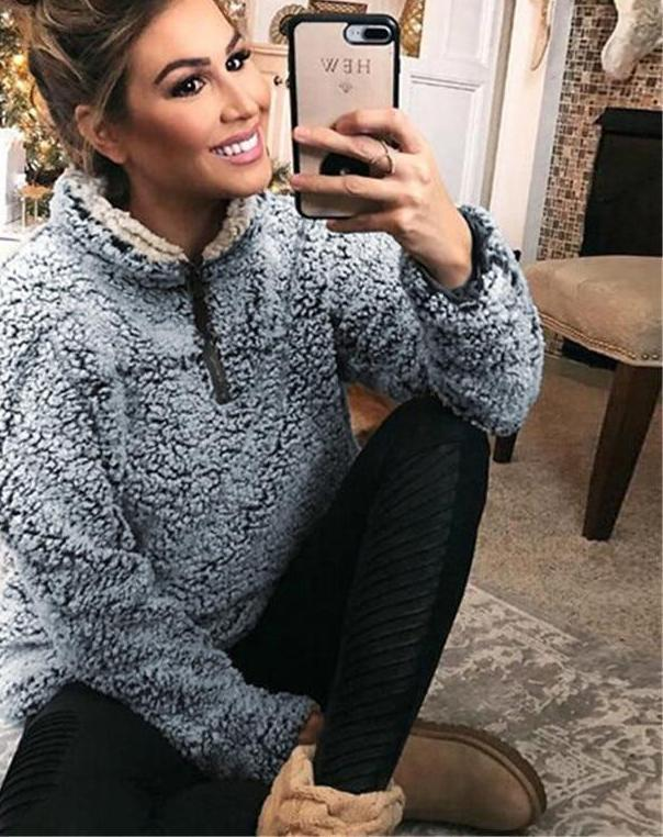 Warm Women Turtleneck Woolen Hoodies