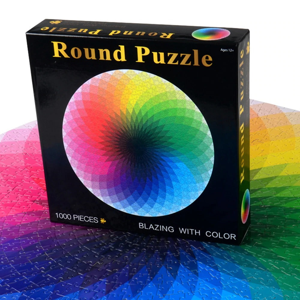1000 Pieces Round Puzzle-rainbow