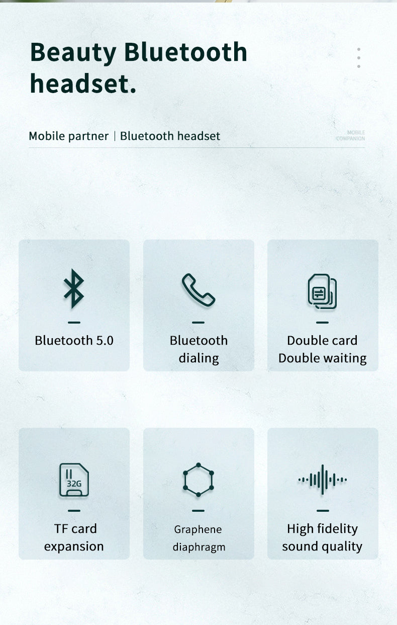 Mobile Partner Bluetooth Headset With Calling Function-aolanscctv