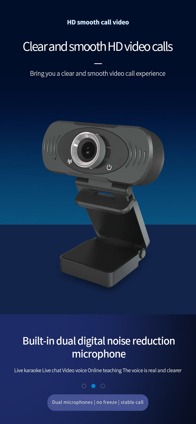 Cámara Web de Video Webcam USB HD 1080p
