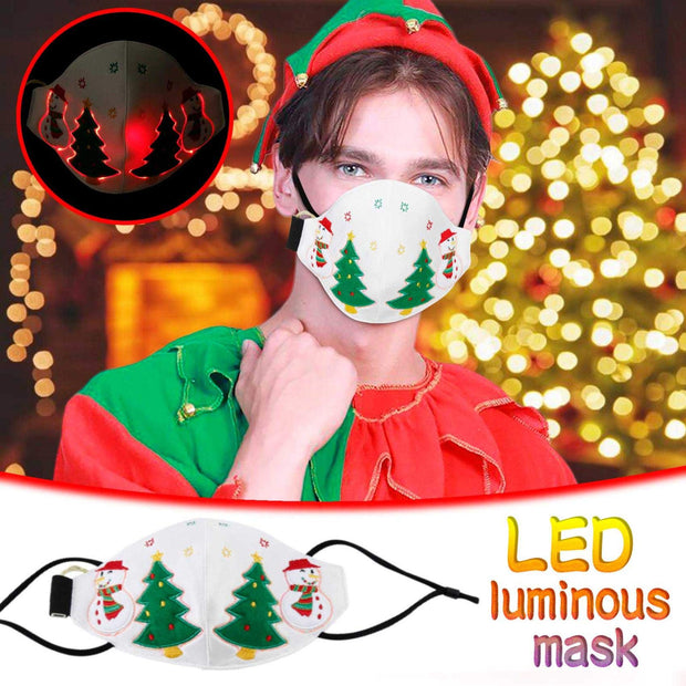 🎄2020 Christmas LED Light Up Luminous Mask🎄-(Free 10 filter gaskets)