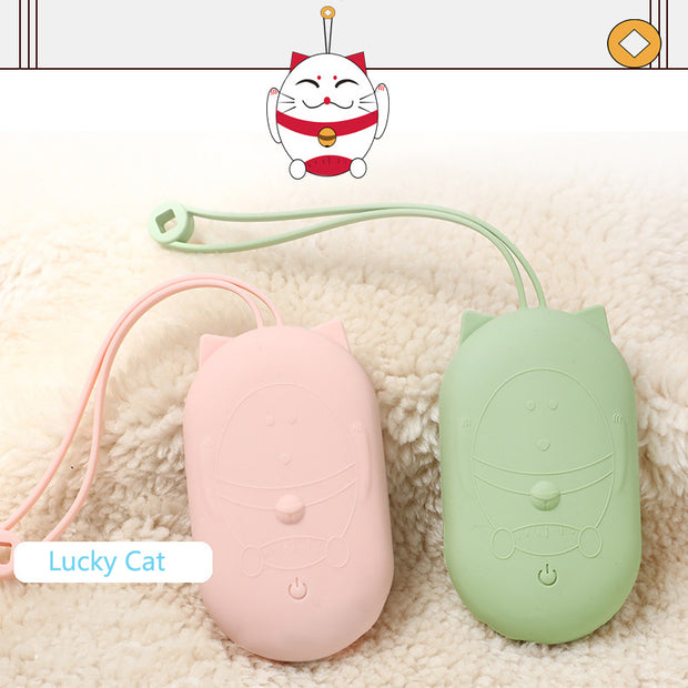 2 in 1 Hand Warmer Power Bank-Lucky Cat Pattern
