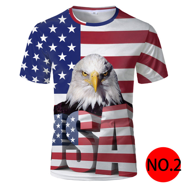 American flag printed T-shirt