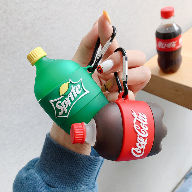 Creative Sprite Cola Drink Bottle AirPods Case