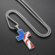 Cross titanium steel necklace