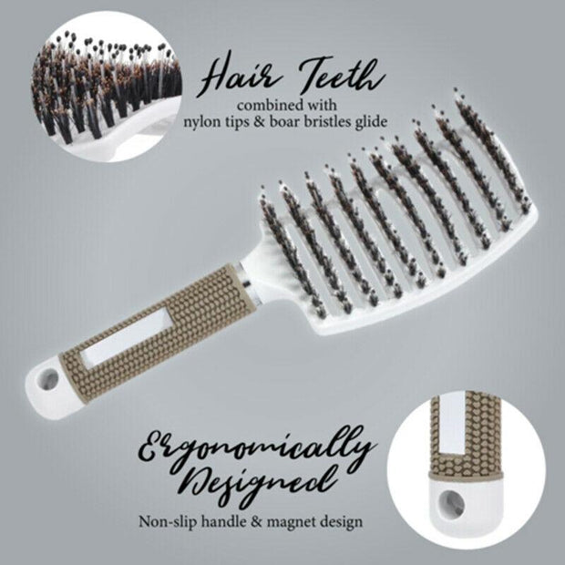 Detangler Bristle Nylon Hairbrush 🔥BUY 1 GET 1 FREE