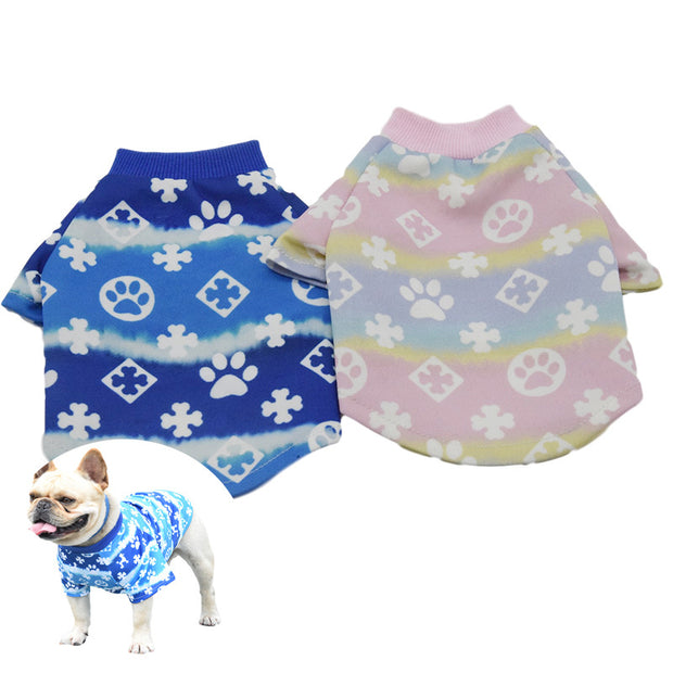 Gradient dog clothing Teddy clothes Pet clothing