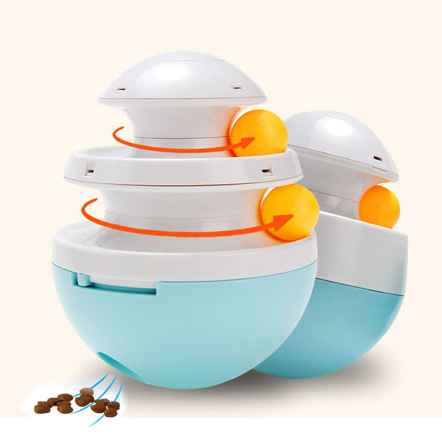 Interactive Dog Cat Toys Tumbler Leakage Food Ball Food Dispenser