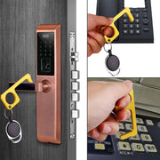 No Touch Door Opener Tool  Brass Keychain Tools