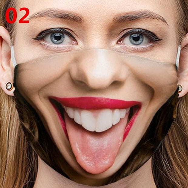 Personalized Facial Expression Funny Face Mask