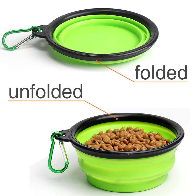 Portable Dog Bowl Travel Bowl with Buckle