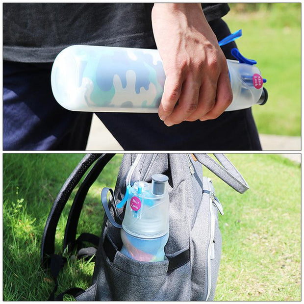 Portable Fashion Double-layer Outdoor Leakproof Spray Bottle-aolanscctv
