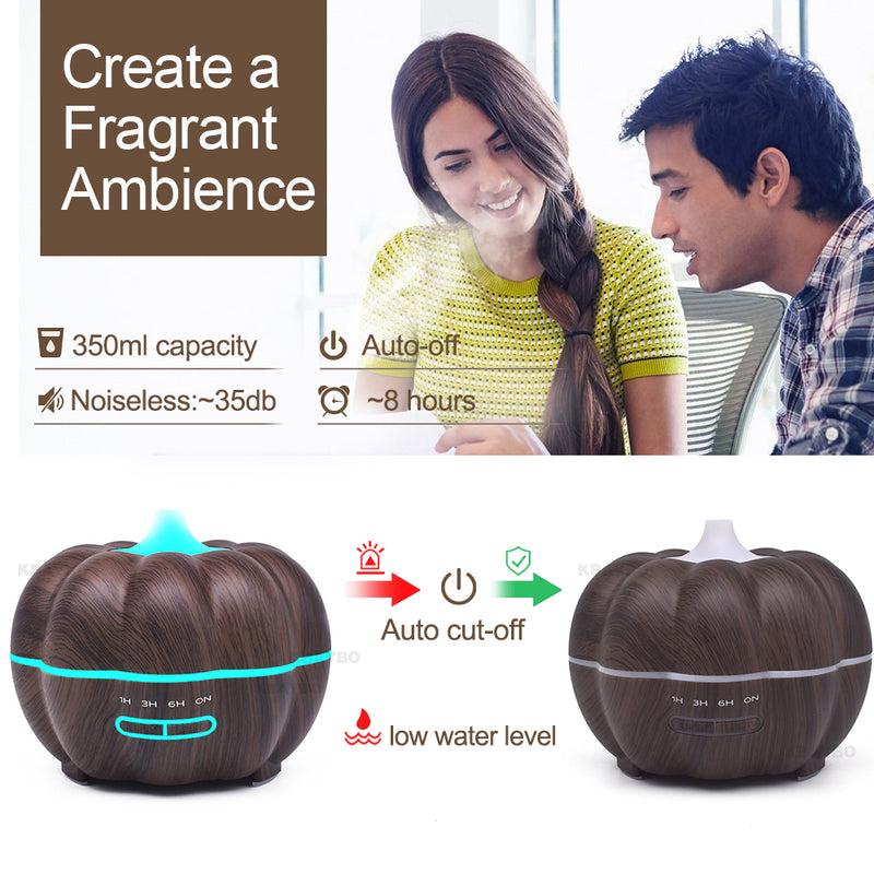 Pumpkin Humidifier LED Night Light Aroma Diffuser