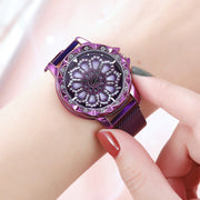 Rotating rhinestone watch