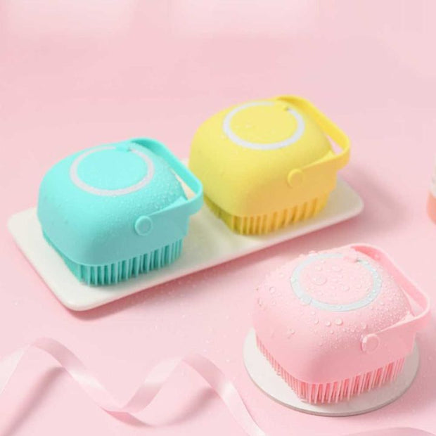 Silicone Massage Bath Brush Liquid Soap Dispenser(Buy 4 Free Shipping)-aolanscctv