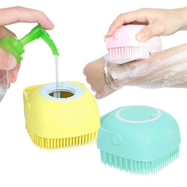 Silicone massage bath brush Liquid Soap DispenserSilicone Massage Bath Brush Liquid Soap Dispenser(Buy 4 Free Shipping)-aolanscctv
