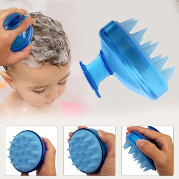 Silicone massage shampoo brush