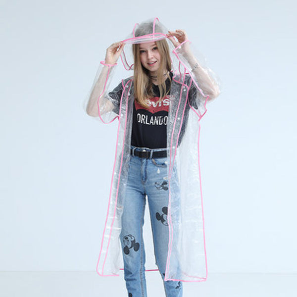 Transparent Reflective Raincoat