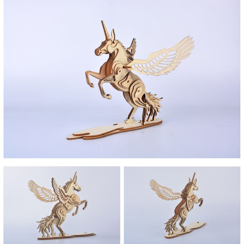 Unicorn Wooden 3D Puzzle
