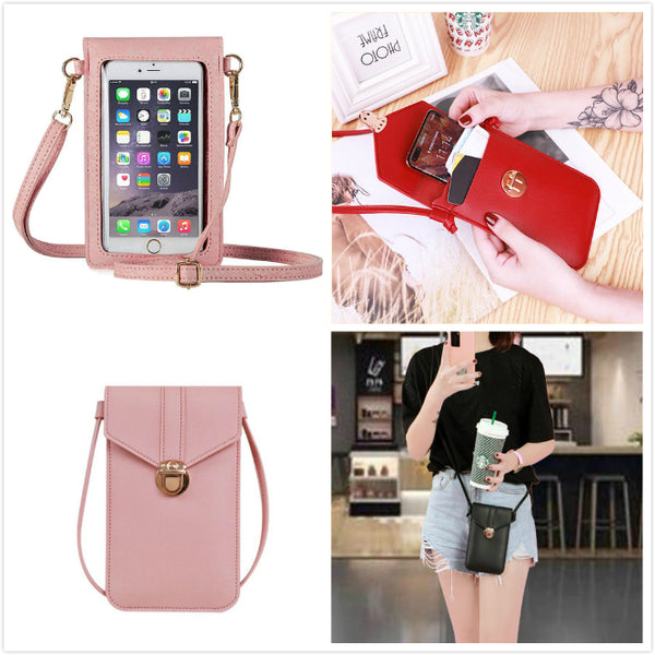 Waterproof Leather Crossbody Phone Bag