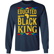 Load image into Gallery viewer, Educated Black King Shirt African DNA Pride - TheTrendyTee