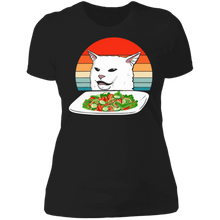 Load image into Gallery viewer, Petty Cat Meme Woman Yelling at Cat Vintage shirt - TheTrendyTee