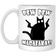 Load image into Gallery viewer, Pew Pew Madafakas Funny Cat Mug - TheTrendyTee