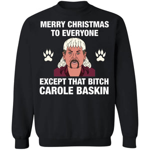 Tiger King Joe Exotic Merry Christmas to everyone Christmas sweatshirt