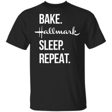 Load image into Gallery viewer, Bake Hallmark Sleep Repeat Christmas Shirt - TheTrendyTee