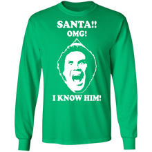 Load image into Gallery viewer, Elf Will Ferrell Santa.OMG! I Know Him Ugly Christmas Sweatshirt - TheTrendyTee