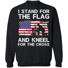 Load image into Gallery viewer, Stand for the Flag Kneel for the Cross Shirt - TheTrendyTee