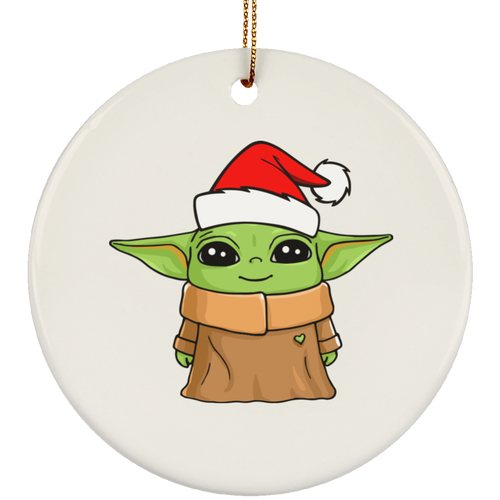 Cute Baby Yoda Christmas tree Ornament - TheTrendyTee