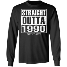 Load image into Gallery viewer, Straight Outta 1990 Dirty 30 funny birthday shirt - TheTrendyTee