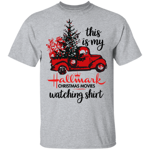 This Is My Hallmark Christmas Movies Watching T-Shirt Red Car - TheTrendyTee