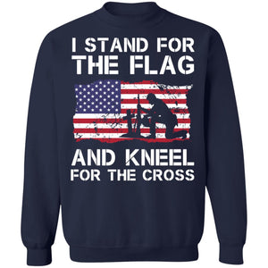 Stand for the Flag Kneel for the Cross Shirt - TheTrendyTee