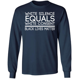 White Silence Equals White Consent BLM Shirt - TheTrendyTee