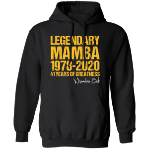 Kobe Bryant Mamba-Out 41 Years Of Greatness T-Shirt - TheTrendyTee