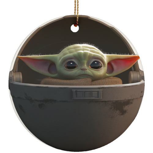 Baby Yoda floating pod ornament - TheTrendyTee