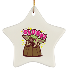 Load image into Gallery viewer, Baby Yoda the Soup Broth Christmas tree ornament - TheTrendyTee