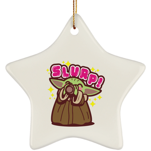 Baby Yoda the Soup Broth Christmas tree ornament - TheTrendyTee