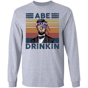 Abraham Lincoln Abe Drinkin 4th July shirt - TheTrendyTee