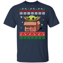 Load image into Gallery viewer, Baby Yoda Adopt This Jedi Ugly Christmas Sweater - TheTrendyTee