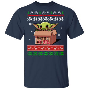 Baby Yoda Adopt This Jedi Ugly Christmas Sweater - TheTrendyTee